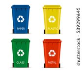 realistic set recycle bins for... | Shutterstock .eps vector #539299645