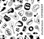 black and white fun seamless... | Shutterstock .eps vector #539308309