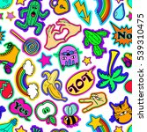 colorful funny seamless pattern ... | Shutterstock .eps vector #539310475