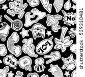black and white funny seamless... | Shutterstock .eps vector #539310481