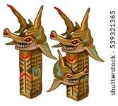 Set Of Figurines Of Golden Fis...