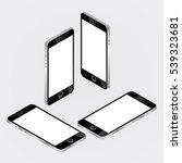 smartphone mock up  isometric... | Shutterstock .eps vector #539323681