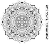round ornamental mandala for... | Shutterstock .eps vector #539324605