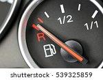 fuel gauge in car dashboard  ... | Shutterstock . vector #539325859