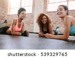 portrait of three young women... | Shutterstock . vector #539329765