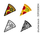 pizza vector cartoon  colored ... | Shutterstock .eps vector #539330854