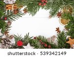 top view christmas new year... | Shutterstock . vector #539342149