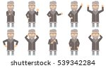 happy north man giving thumb up.... | Shutterstock .eps vector #539342284