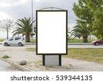 blank billboard and outdoor... | Shutterstock . vector #539344135