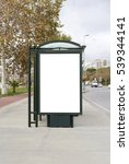 blank white mockup of bus stop... | Shutterstock . vector #539344141