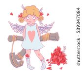 valentine's day. naughty cute... | Shutterstock .eps vector #539347084