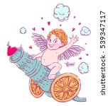 valentine's day. funny cupid...   Shutterstock .eps vector #539347117