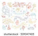vector set of love icons and...