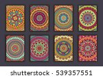 collection retro cards. ethnic... | Shutterstock .eps vector #539357551