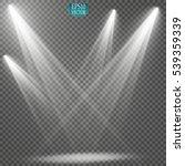 vector spotlights. scene. light ... | Shutterstock .eps vector #539359339