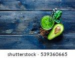 mason jar of green fresh... | Shutterstock . vector #539360665