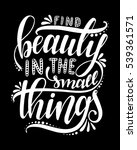 find beauty in the small things.... | Shutterstock .eps vector #539361571