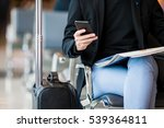 closeup cellphone in male hands ... | Shutterstock . vector #539364811