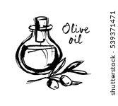 image of a bottle of olive oil... | Shutterstock .eps vector #539371471