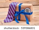 gift  tie and father's card.... | Shutterstock . vector #539386831