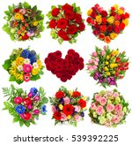 bouquets of colorful flowers... | Shutterstock . vector #539392225
