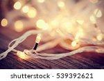 christmas garland lights from... | Shutterstock . vector #539392621