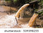 close up of water gushing from... | Shutterstock . vector #539398255