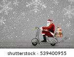 Santa Claus On Scooter...