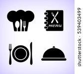 restaurant  vector icon set