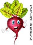 cartoon beet giving thumb up | Shutterstock .eps vector #539408425