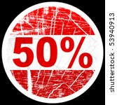 fifty percent discount   Shutterstock .eps vector #53940913