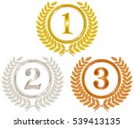 gold medals  silver medals ... | Shutterstock .eps vector #539413135