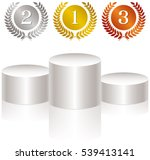 medals and podium   Shutterstock .eps vector #539413141