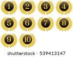 medals  ranking  top ten  | Shutterstock .eps vector #539413147