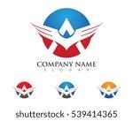 wing logo template vector icon... | Shutterstock .eps vector #539414365