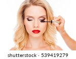 attractive young blonde with... | Shutterstock . vector #539419279
