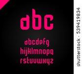 vector square alphabet simple... | Shutterstock .eps vector #539419834