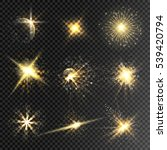 set of vector glow stars and... | Shutterstock .eps vector #539420794