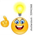 have an idea emoticon | Shutterstock .eps vector #53942368