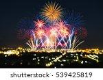 beautiful firework display for... | Shutterstock . vector #539425819