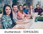 portrait of happy successful... | Shutterstock . vector #539426281