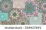 vector patchwork quilt pattern. ... | Shutterstock .eps vector #539427691