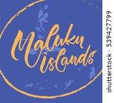 indonesian lettering  maluku... | Shutterstock .eps vector #539427799