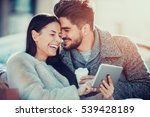 happy moments together.young... | Shutterstock . vector #539428189