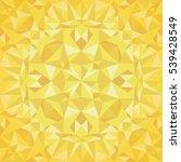 vector golden triangles foil... | Shutterstock .eps vector #539428549