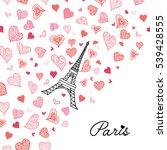 vector eifel tower paris... | Shutterstock .eps vector #539428555