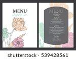 vector menu template design... | Shutterstock .eps vector #539428561