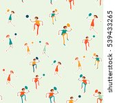 seamless pattern with figures... | Shutterstock .eps vector #539433265