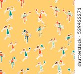 seamless pattern with figures... | Shutterstock .eps vector #539433271