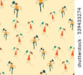seamless pattern with figures... | Shutterstock .eps vector #539433274